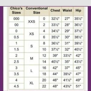 1154 Lill Studio Other - Chico size chart